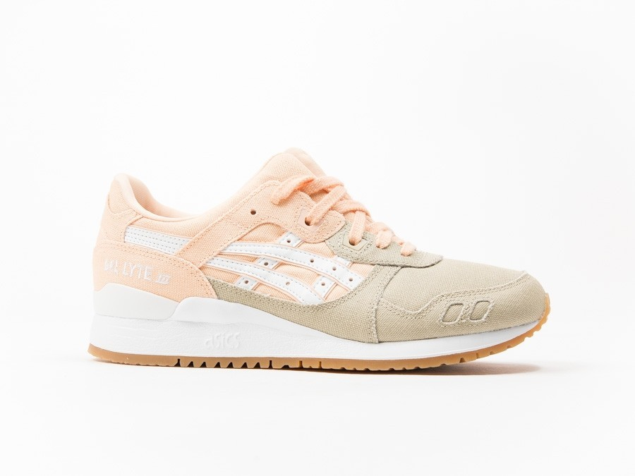 Asics Gel Lyte III Bleached Apricot Pink Brown