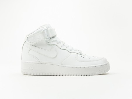 Nike Aire Force 1 MID GS White Wmns-314195-113-img-1