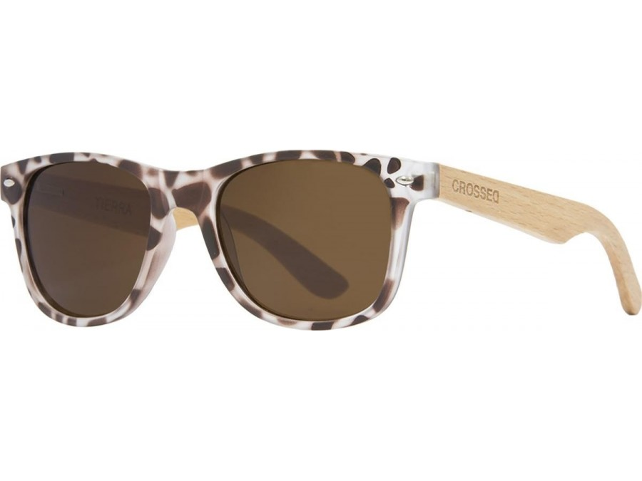Gafas de sol Crossed TIERRA ZEBRA ANIMAL PRINT LENTE MARRON