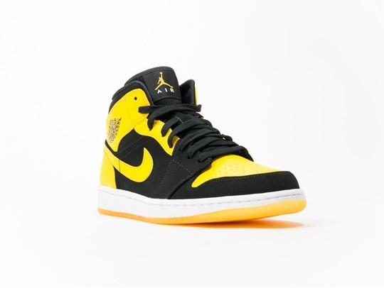Air Jordan 1 Mid Black-Yellow-554724-035-img-2