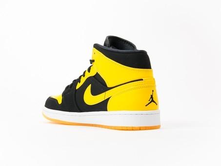 Air Jordan 1 Mid Black-Yellow-554724-035-img-3
