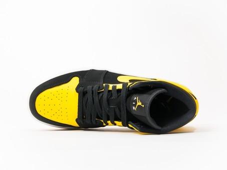 Air Jordan 1 Mid Black-Yellow-554724-035-img-5