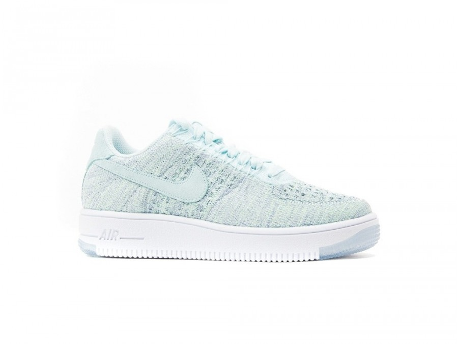 timeless design 165fd e035c NIKE W AIR FORCE 1 FLYKNIT LOW GLACIER BLUE