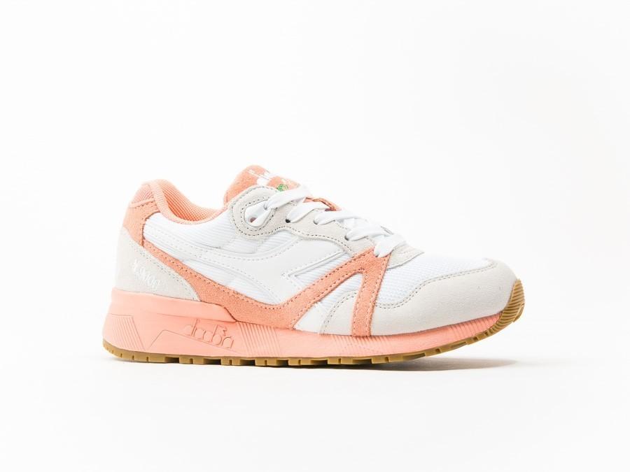 Diadora N9000 III White / Peach Pink Wmns