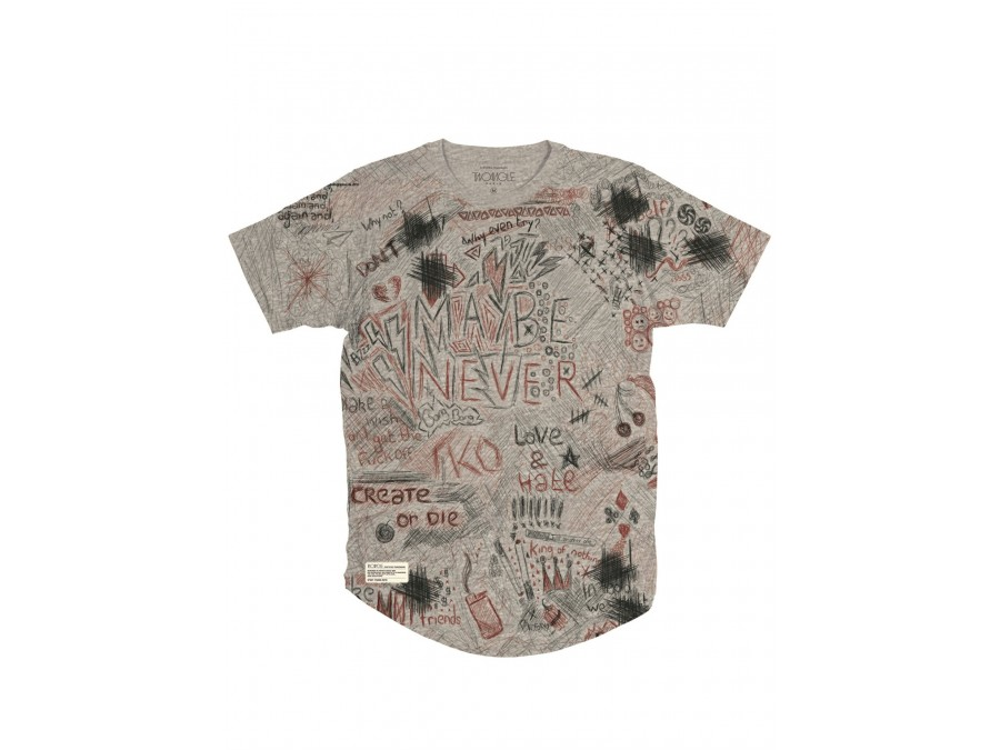 Camiseta Two Angle Gencil - Graphic Tee Grey
