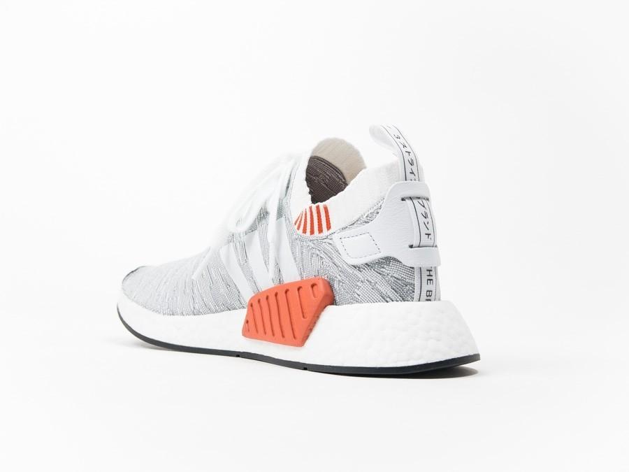 5eef1da857b95 adidas NMD R2 PrimeKnit Grey White - BY9410 - TheSneakerOne
