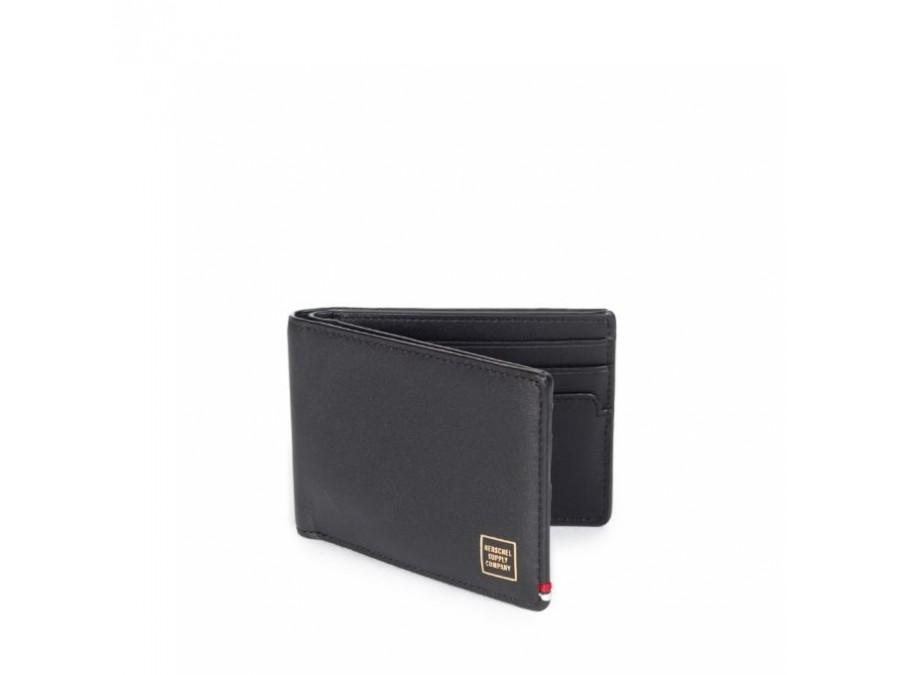 Monedero Herschel Merritt Wallet Black Leather