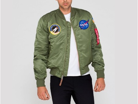 Cazadora Alpha Industries MA-1 VF NASA Green-166107-01-img-1