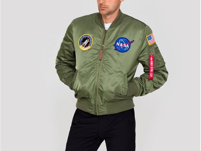 Cazadora Alpha Industries MA-1 VF NASA Green-166107-01-img-2