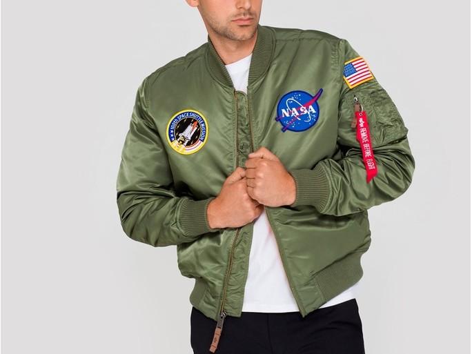 Cazadora Alpha Industries MA-1 VF NASA Green-166107-01-img-3