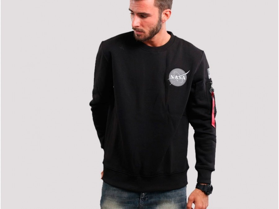 Sudadera Alpha Industries SPACE SHUTTLE SWEATER Black