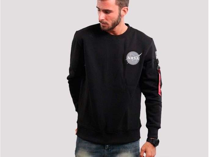 Sudadera Alpha Industries SPACE SHUTTLE SWEATER Black-178307-03-img-1