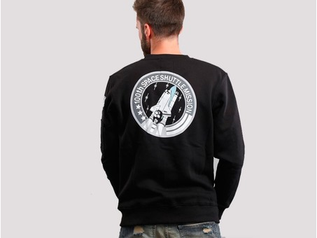 Sudadera Alpha Industries SPACE SHUTTLE SWEATER Black-178307-03-img-3