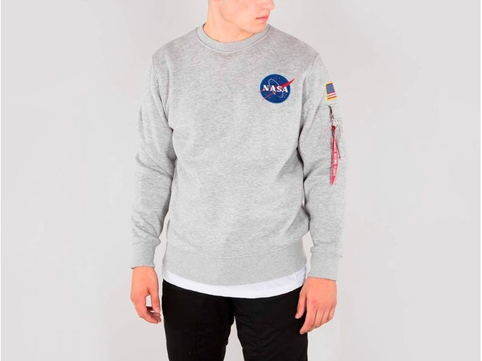 Sudadera Alpha Industries SPACE SHUTTLE SWEATER Grey-178307-17-img-1