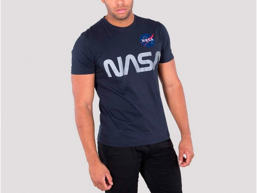 Camiseta Alpha Industries NASA REFLECTIVE Blue Tee