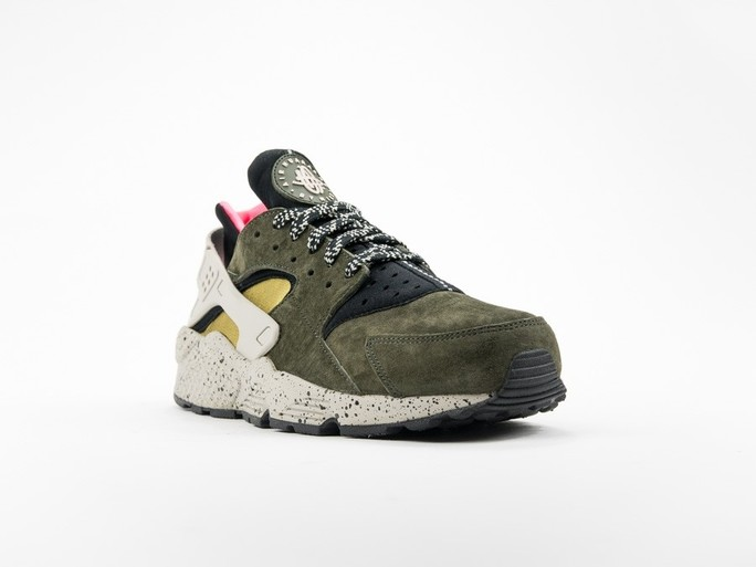 Nike Air Huarache Run Premium Black/Desert Moss-704830-010-img-2