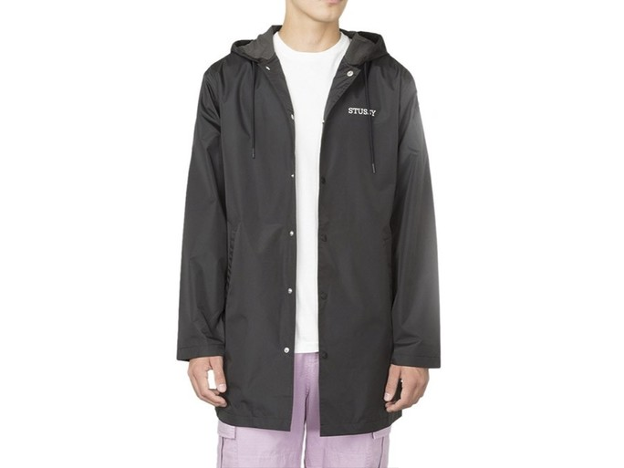 Chaqueta Stussy Tony Long Hooded Coach Black-115352-BL-img-1