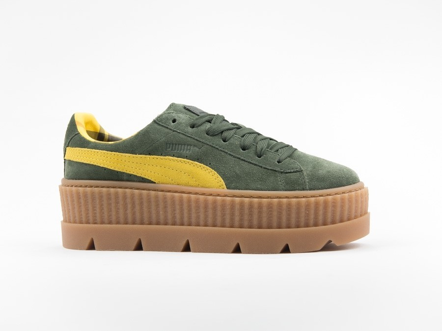 Puma x Fenty Cleated Creeper Suede Green by Rihanna