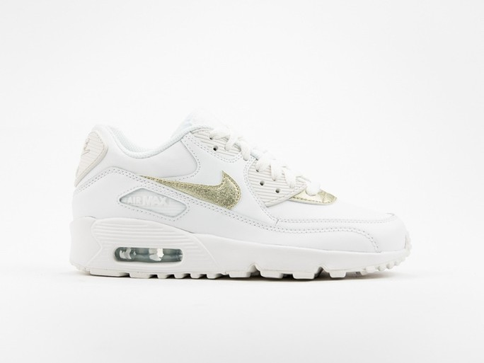 Nike Air Max 90 Leather White GS Wmns-833376-103-img-1