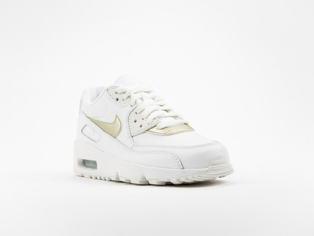 Nike Air Max 90 Leather White GS Wmns-833376-103-img-2