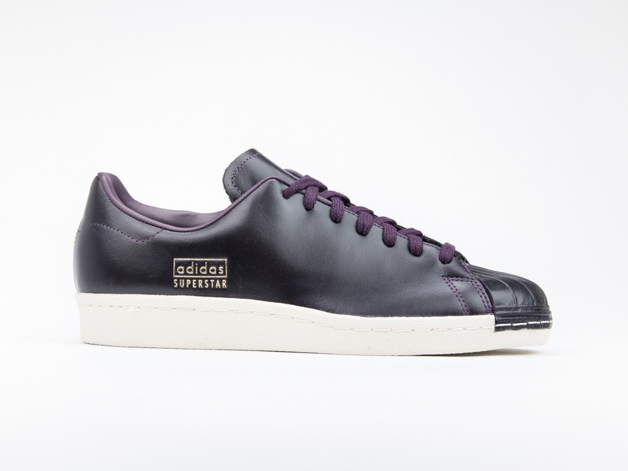adidas Superstar 80S Clean Leather Burgundy-CQ2170-img-1