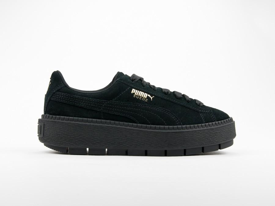 e44fd815f080 puma suede platform trace Puma Suede Platform Trace Black Wmns - 365830-01  - TheSneakerOne