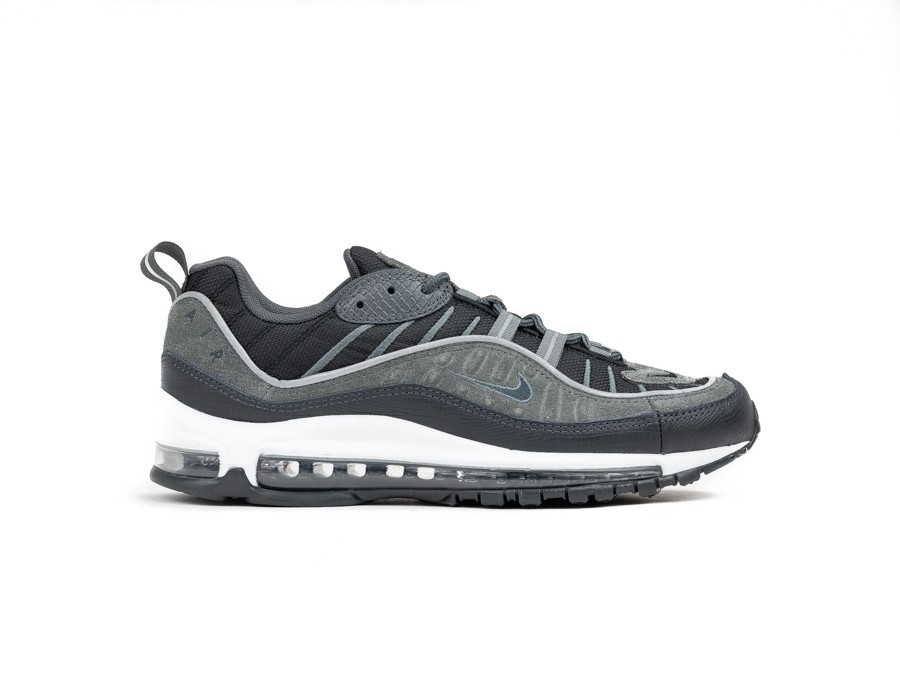 NIKE AIR MAX 98 SE BLACK ANTHRACITE DARK GREY WHIT