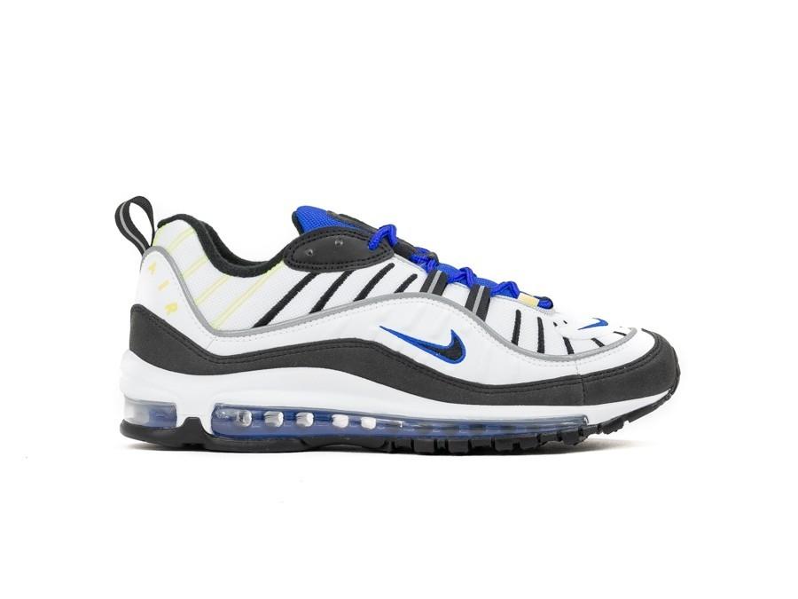 6bc99d09f4 NIKE AIR MAX 98 WHITE BLACK-RACER BLUE-VOLT - 640744-103 - TheSneakerOne