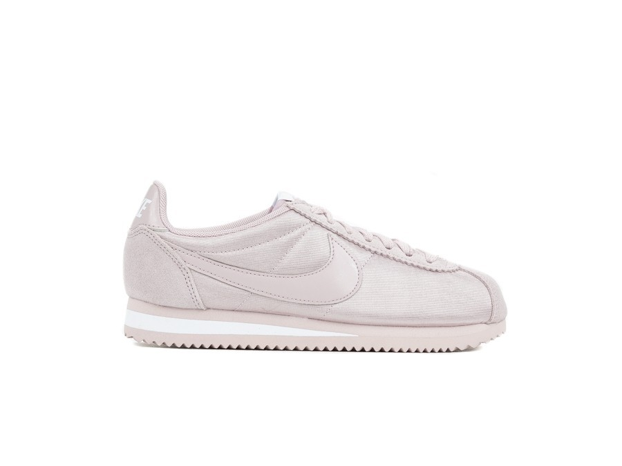 Classic White Nylon Women Rose Particle Nike Cortez aq7wdRRx