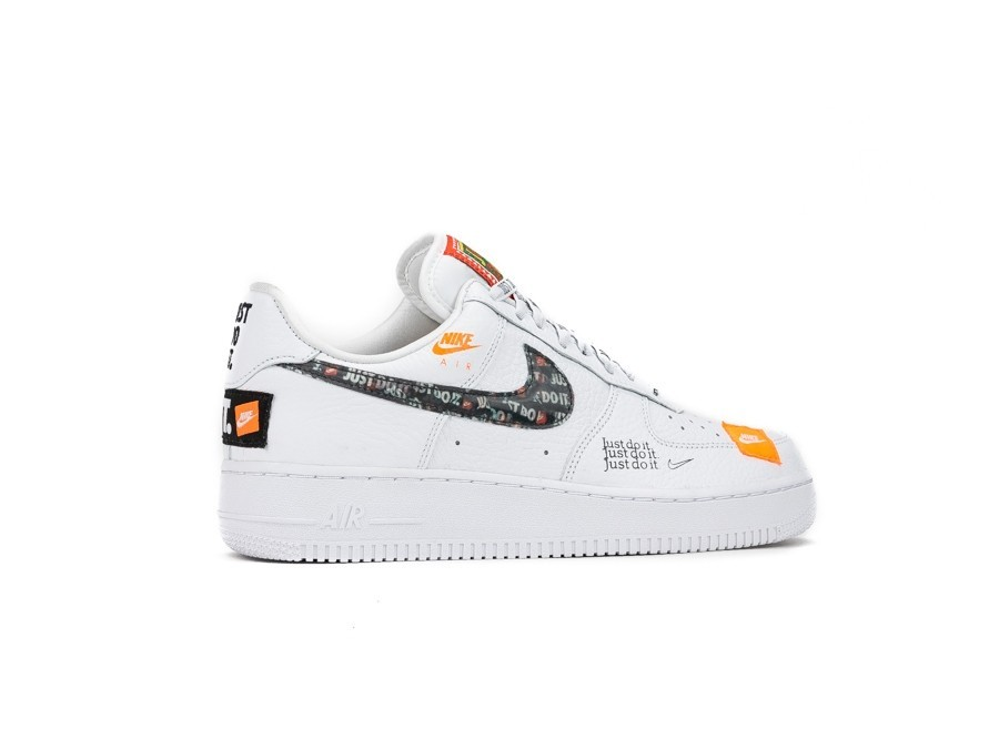Marty Fielding fama máquina de coser  NIKE AIR FORCE 1 '07 PREMIUM JUST DO IT WHITE-WHITE-BLACK-TOTAL ...