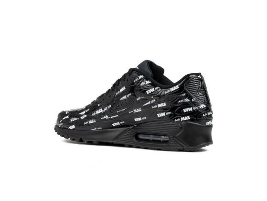 72ef5eb371f0 NIKE AIR MAX 90 PREMIUM BLACK-BLACK-WHITE - 700155-015 - TheSneakerOne