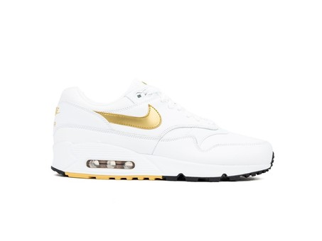 NIKE AIR MAX 90/1 WHITE-METALLIC GOLD-BLACK-AJ7695-102-img-1