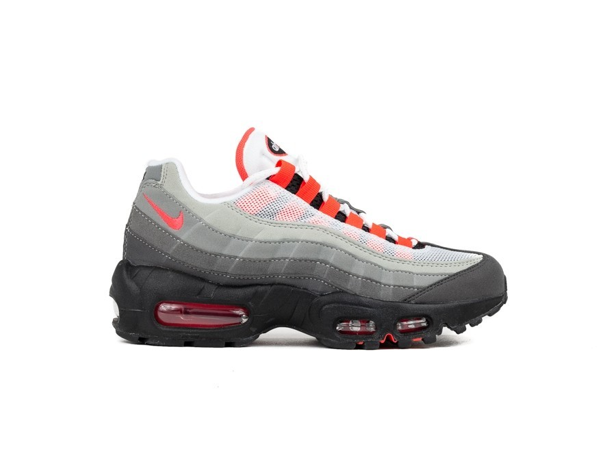 NIKE AIR MAX 95 OG WHITE SOLAR RED GRANITE DUST