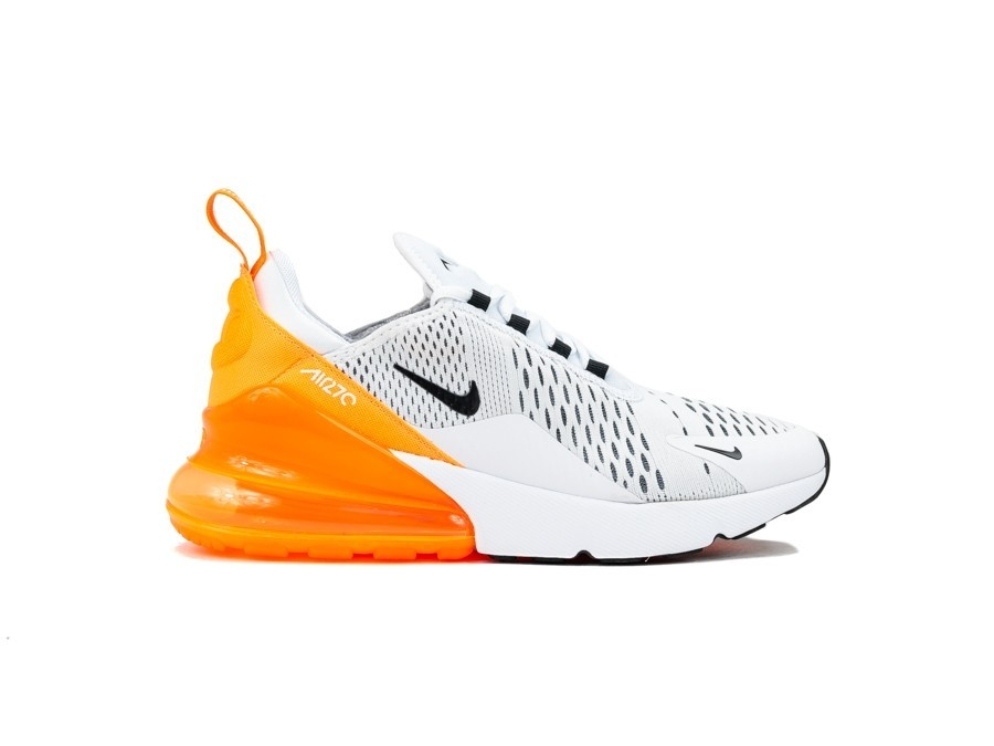 on sale f4518 8593e NIKE WOMEN S NIKE AIR MAX 270 WHITE-BLACK-TOTAL OR-AH6789- ...