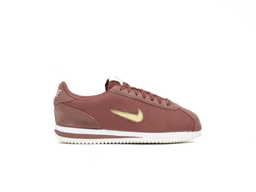official photos ecf1c 17534 NIKE WOMEN S NIKE CORTEZ BASIC JEWEL 18 RED SEPIA