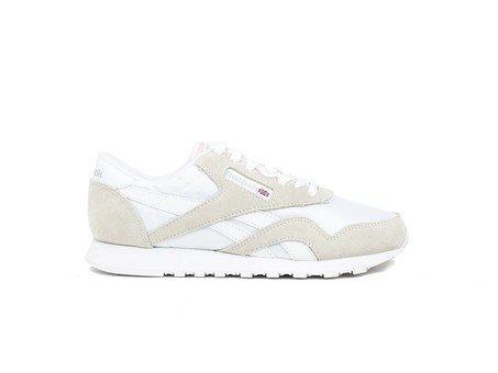 REEBOK CLASSIC LEATHER NYLON WHITE-LIGHT GREY-6394-img-1