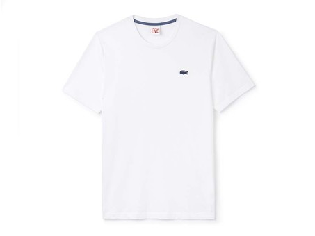 LACOSTE MEN S TEE-SHIRT BLANCO-TH9063-001-img-1