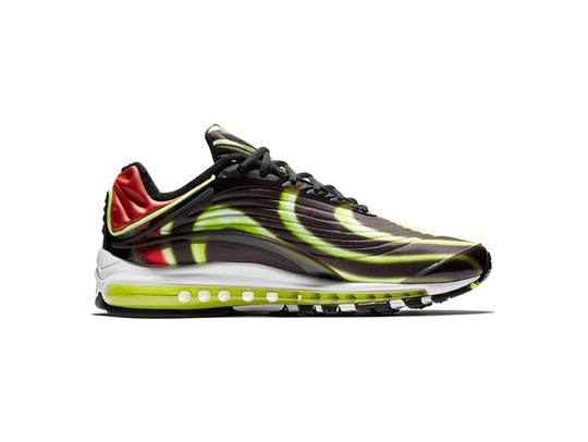 NIKE AIR MAX DELUXE BLACK-VOLT-HABANERO RED-WHITE-AJ7831-003-img-1
