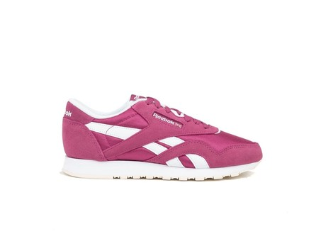 REEBOK CLASSIC LEATHER NYLON TWISTED BERRY-WHITE--CN4018-img-1