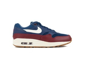NIKE AIR MAX 1 SHOE NAVY-SAIL-TEAM RED-SAIL-AH8145-400-img-1