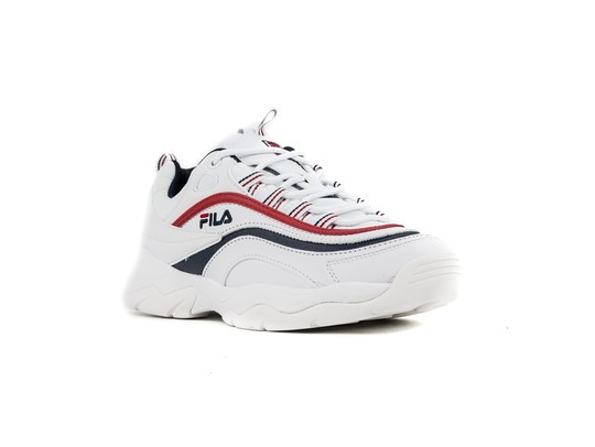 FILA RAY LOW WMN WHITE FILA NAVY RED-1010562-WH-img-2