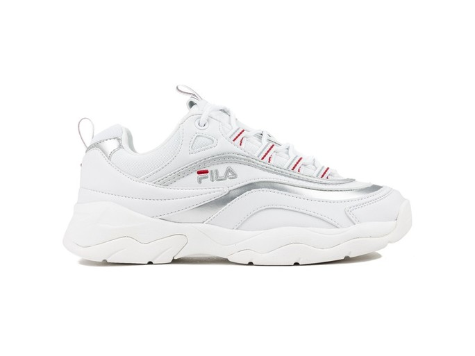 FILA RAY LOW WMN WHITE SILVER-1010562-SI-img-1