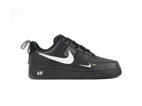 NIKE AIR FORCE 1 '07 LV8 UTILITY BLACK-WHITE-BLACK-AJ7747-001-img-1