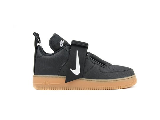 NIKE AIR FORCE 1 UTILITY BLACK-WHITE-GUM MED BROWN-AO1531-002-img-1