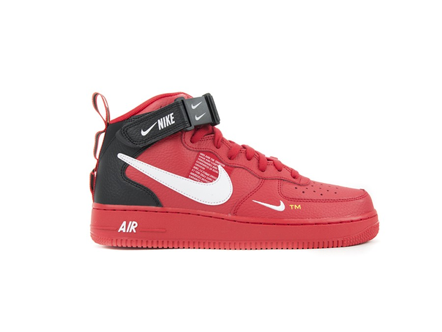 ca141db5 NIKE AIR FORCE 1 MID '07 LV8 SHOE UNIVERSITY RED-W - 804609-605 ...