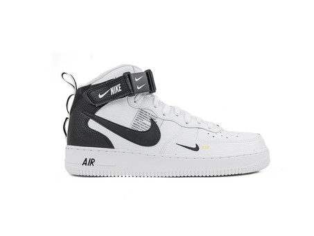 NIKE AIR FORCE 1 MID '07 LV8 SHOE WHITE-BLACK-TOUR-804609-103-img-1