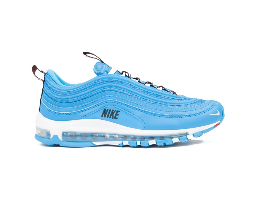 best website c993a 2cf17 NIKE AIR MAX 97 PREMIUM SHOE BLUE HERO-WHITE-BLACK