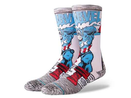 CALCETINES STANCE CAPTAIN AMERICA COMIC-M546D18CAA-GRY-img-1