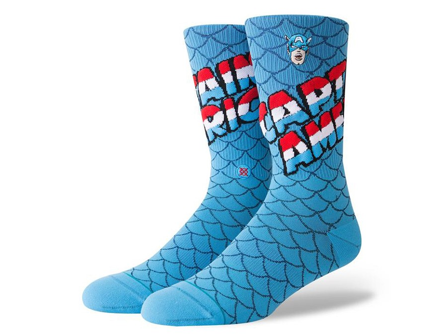 CALCETINES STANCE CAPTAIN AMERICA-M546D18CAP-BLU-img-1