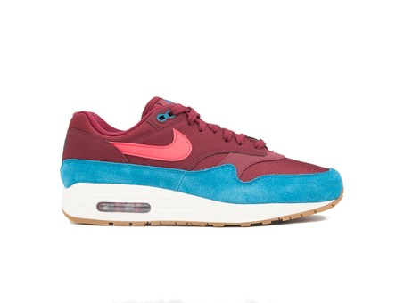 NIKE AIR MAX 1 SHOE TEAM RED-RED ORBIT-GREEN ABYSS-AH8145-601-img-1